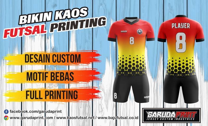 Bikin Kaos Futsal Dengan Bahan Dry Fit Jarum