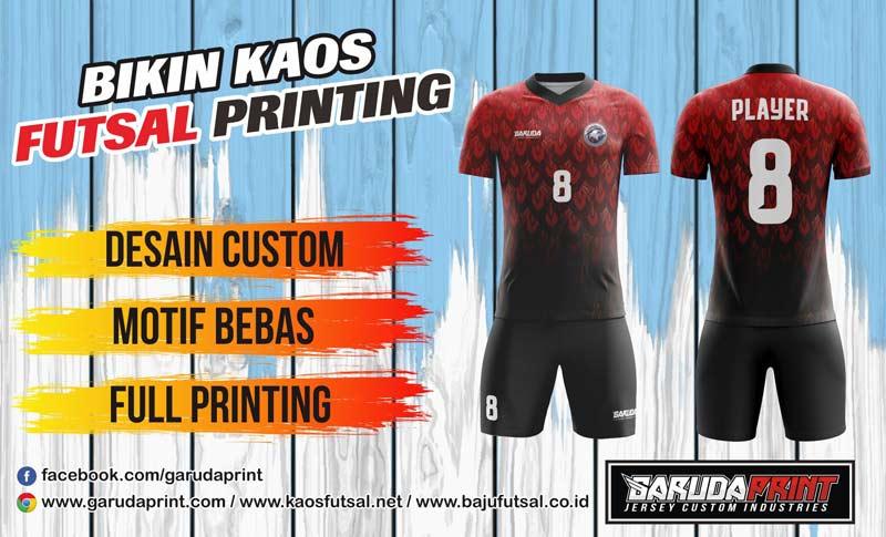 Buat Kaos Futsal Printing Di Kroya Dengan Desain Sendiri