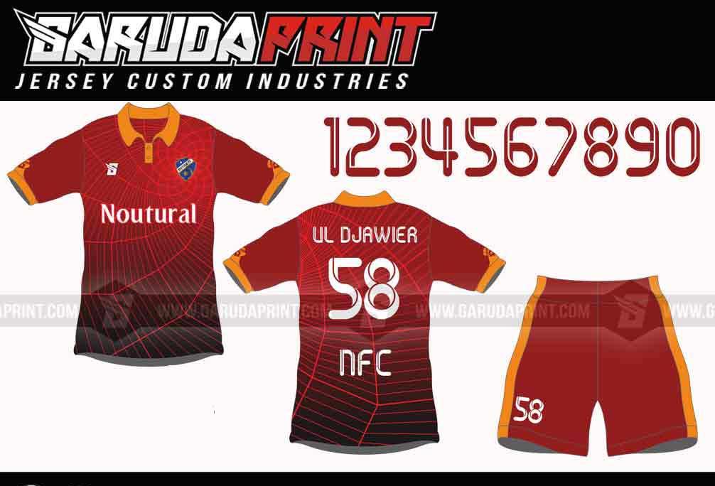 Buat kaos futsal desain sendiri di Garuda Print