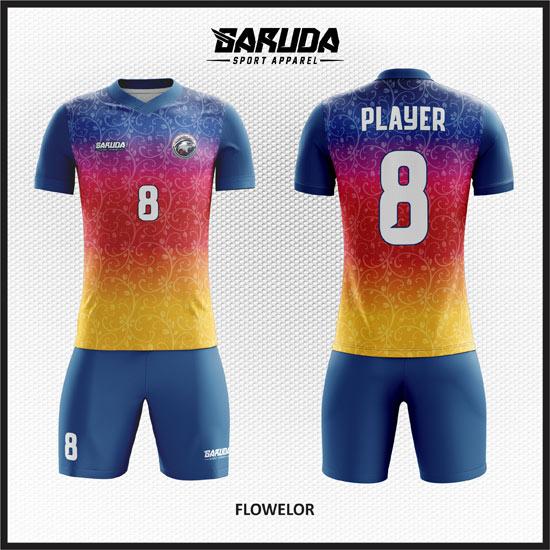 Desain Kaos Futsal Gradasi dan Banyak Warna