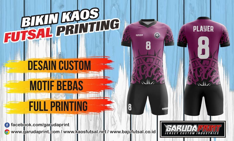 Jasa Konveksi Kaos Futsal Full Printing di Tuban Dengan Kualitas Terbaik