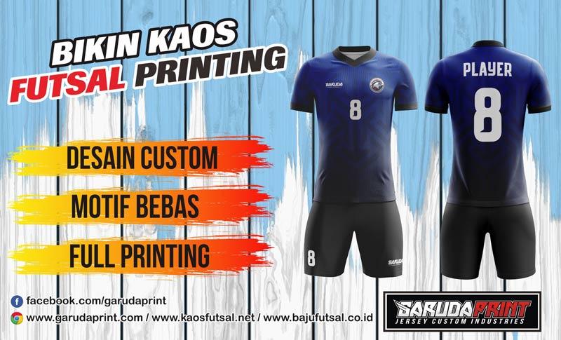 Jasa Pembuatan Kaos Futsal Printing Olahraga wilayah Tegal