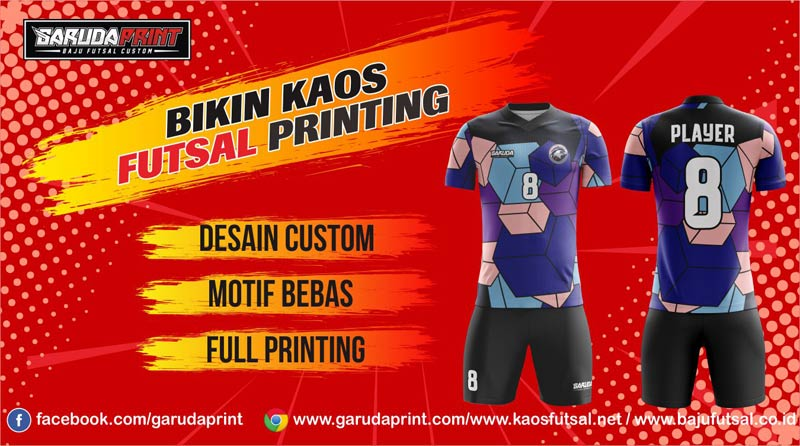 Jasa Pembuatan Kaos Futsal printing di Palembang
