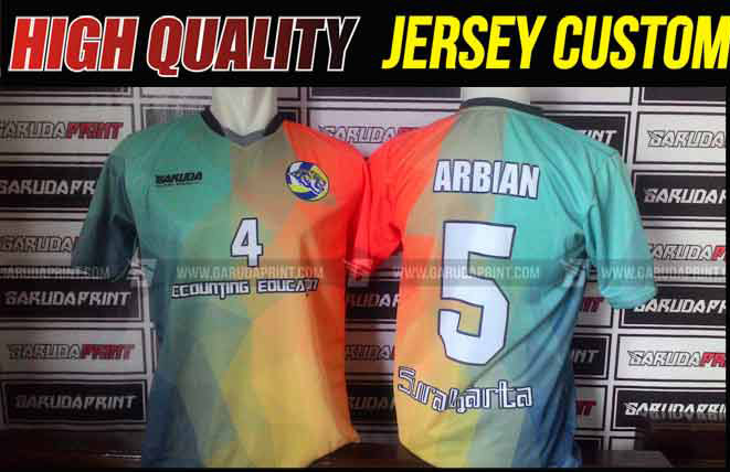 Kaos Futsal Tanpa Sponsor Menempatkan Nomor Pada Bagian Depan