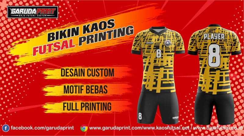 Melayani Pemesanan Bikin Kaos Futsal Full Printing di Kota Sukabumi