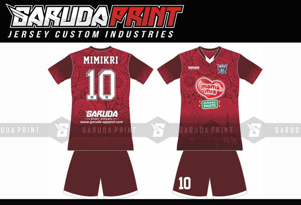 Melayani Pemesanan Kaos Futsal Full Printing Area Cirebon-Sumber