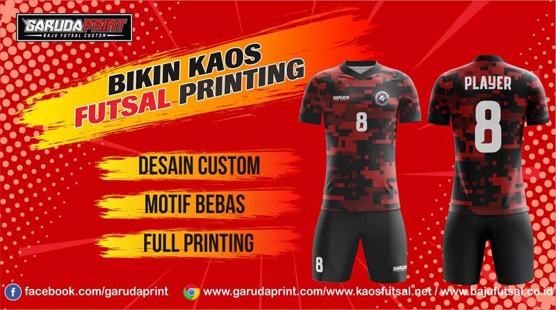 Pembuatan Kaos Futsal Full Printing Harga Murah di Mojokerto