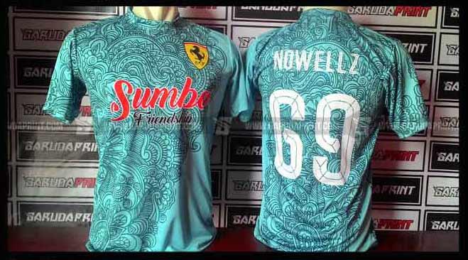 Pembuatan Kaos Futsal Printing Batik di Garuda Print