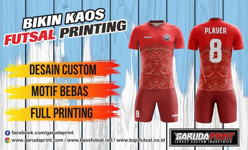 Pembuatan Kaos Futsal Printing Online di Kediri-Ngasem