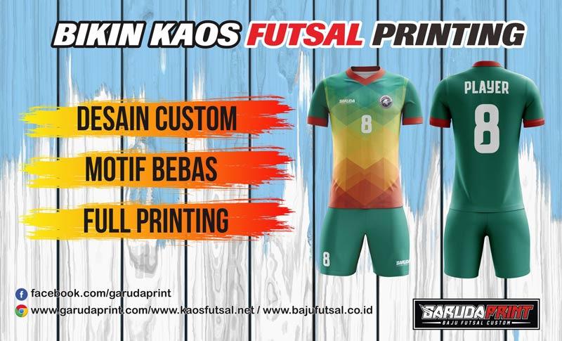 Pembuatan Kaos Futsal Printing di Pekalongan Kualitas