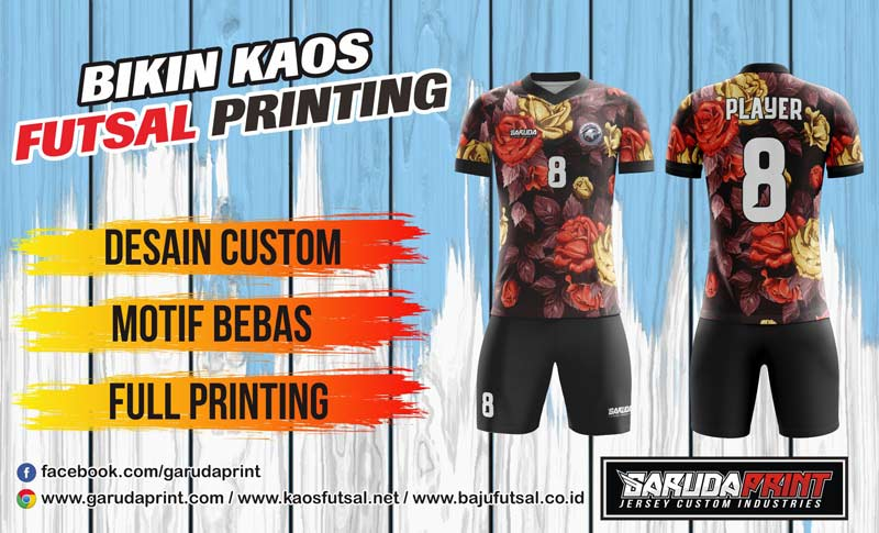 Produsen Bikin Kaos Futsal Printing Area Blitar-Kanigoro