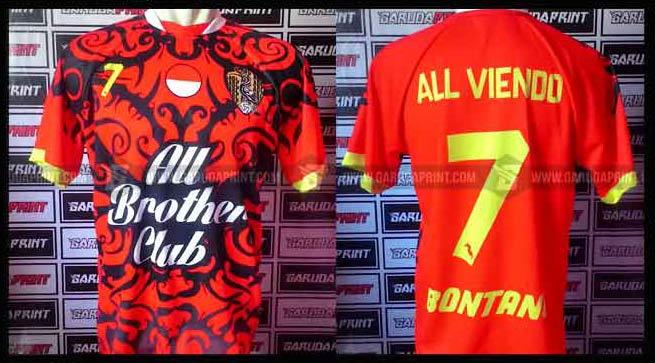 Terima pembuatan Kaos Futsal printing Desain Sendiri di Bontang