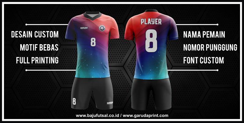 Variasi Buat Kaos Futsal Tanpa Sponsor Menempatkan Nomor Pada Bagian Depan