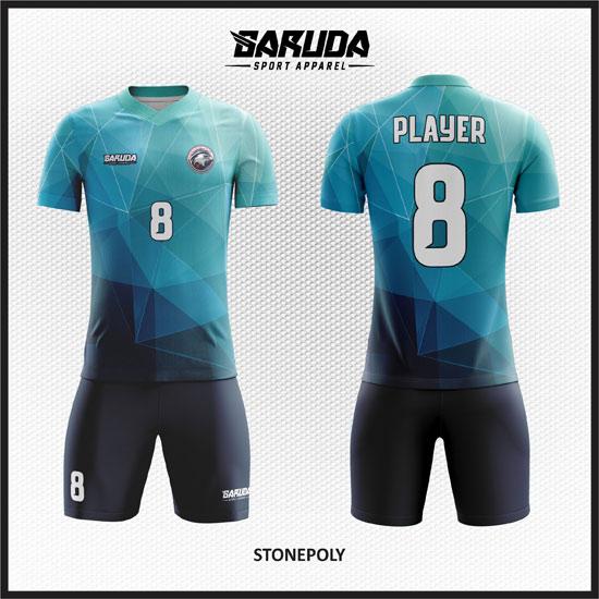 desain kaos futsal biru muda terbaik
