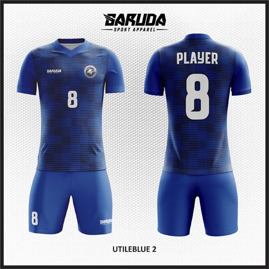 desain kaos futsal biru terbaik dan keren
