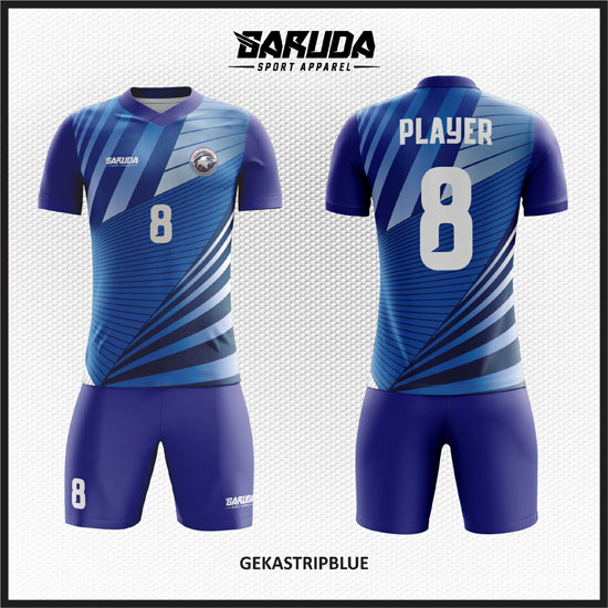 desain kaos futsal full printing warna gradasi biru