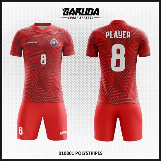 desain kaos futsal full printing warna merah