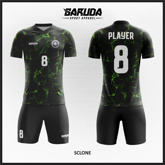 desain kaos futsal hitam terbaik dan keren
