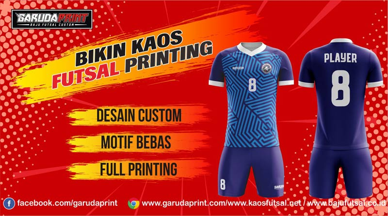 jasa bikin dan Pemesanan Kaos Futsal Desain Sendiri di Bontang