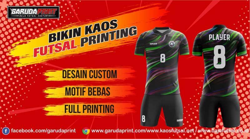 jasa pembuatan kaos futsal printing area Slawi