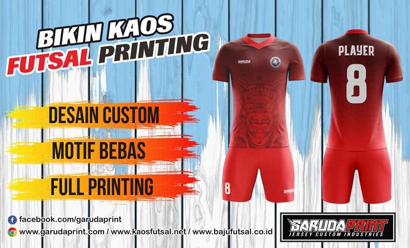 jasa pembuatan kaos futsal printing di Temanggung.