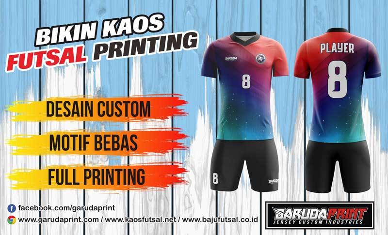 jasa pembuatan pemesanan kaos futsal printing di Banyumas-Purwokerto