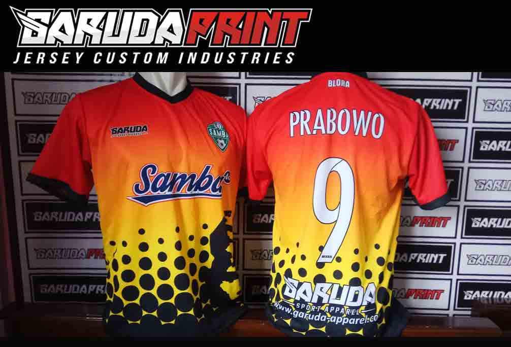 konveksi Pembuatan Kaos Futsal Printing Olahraga di Tegal