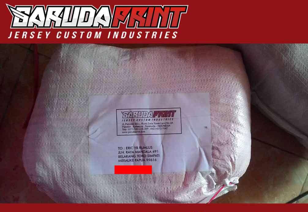 pengiriman barang order kaos futsal