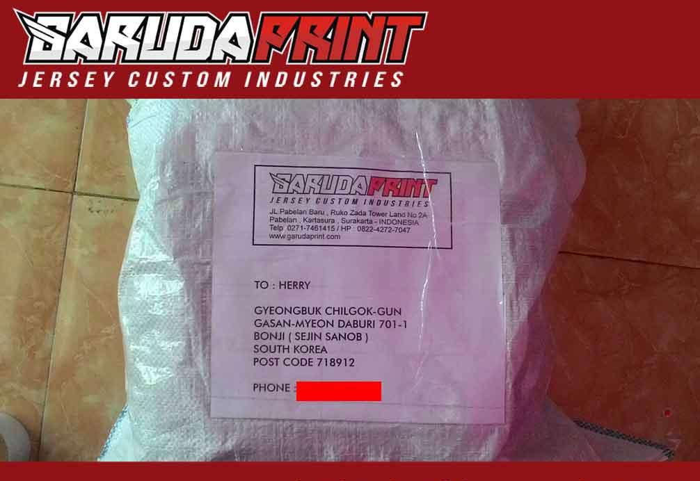 pengiriman barang pesan jersey kaos futsal
