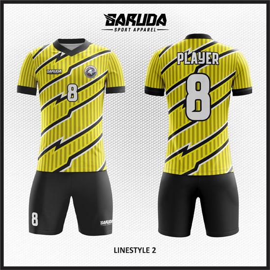 desain kaos futsal keren warna kuning