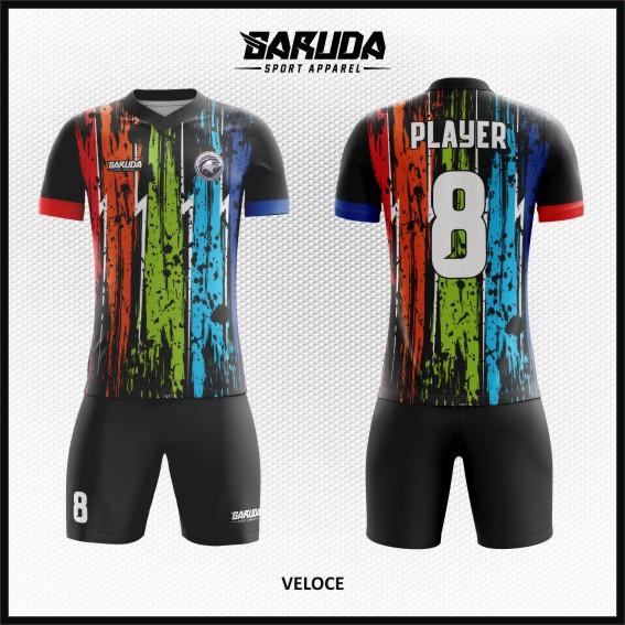 Desain Baju Bola Futsal Warna Pelangi Yang Tampak Gagah