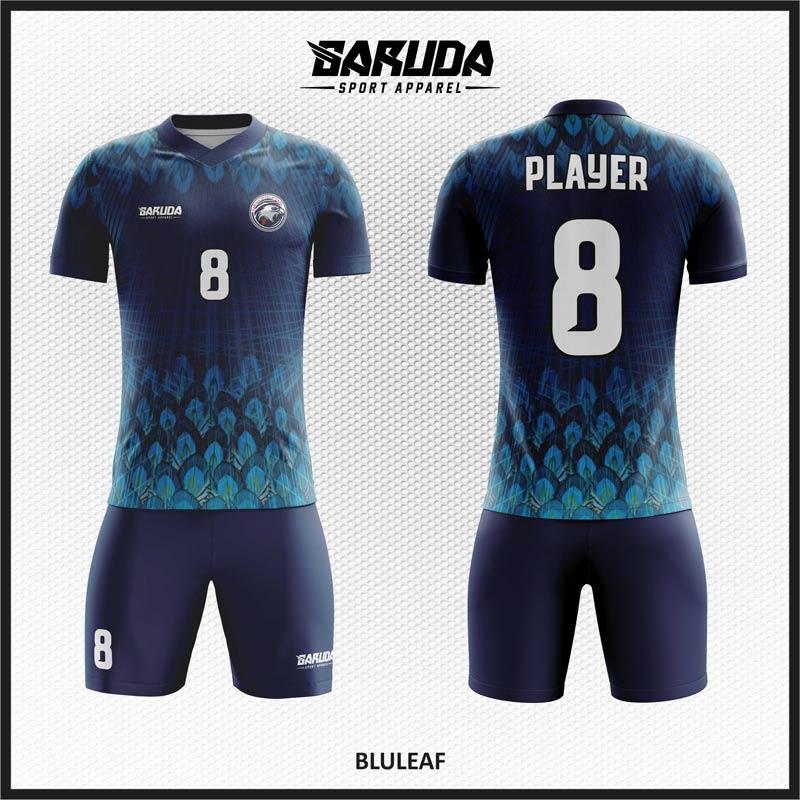 Desain Kostum Futsal Warna Biru Dongker Yang Elegan