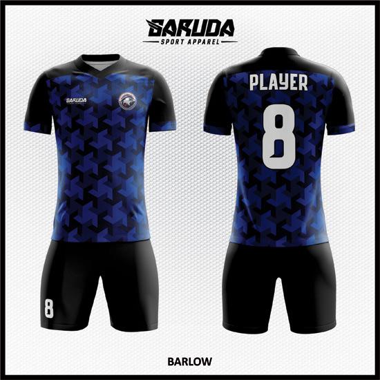 Desain Jersey Futsal Warna Biru Hitam Yang Keren