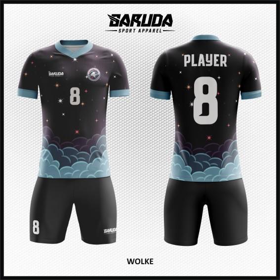 Desain Kaos Bola Futsal Warna Hitam Tampil Kekinian Dan Keren