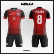 Desain Jersey Futsal Warna Hitam Merah Yang Trendy
