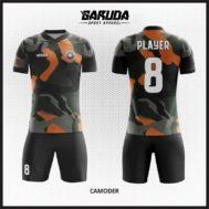 Desain Kaos Bola Futsal Motif Army Tampil Gagah