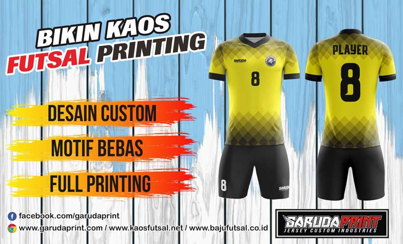 Jasa Pembuatan Jersey Bola Full Printing Desain Sendiri di Kepulauan Selayar