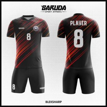 Desain Kaos Futsal Printing Warna Hitam Bikin Lawan Grogi