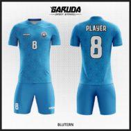 Desain Jersey Sepakbola Warna Biru Motif Batik Yang Unik