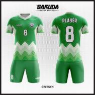 Desain Kaos Bola Futsal Printing Warna Hijau Putih Yang Terbaru