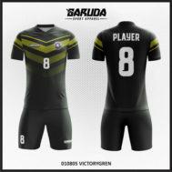 Desain Jersey Sepakbola Full Print Warna Hitam Tampilan Kalem