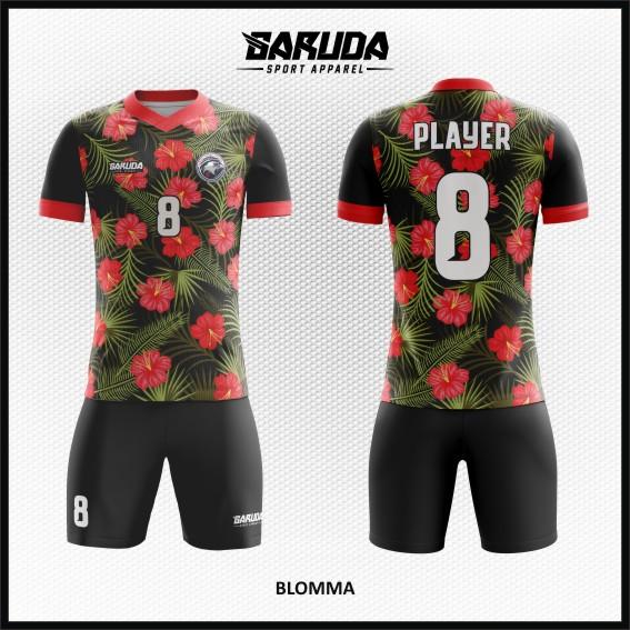 Desain Kaos Bola Futsal Full Print Motif Bunga Yang Menarik Hati