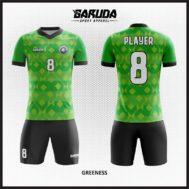 Desain Jersey Futsal Printing Warna Hijau Yang Tampil Oke