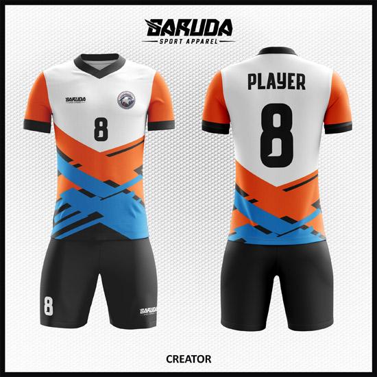 Desain Baju Futsal Full Printing Motif Garis Unik Dan Keren