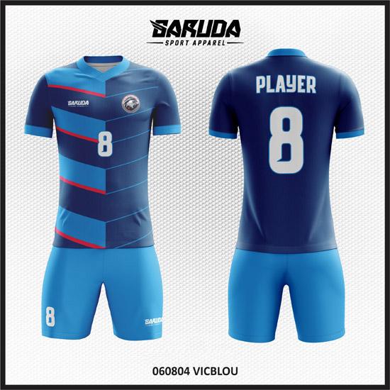 Desain Jersey Sepakbola Warna Biru Yang Elegan Dan Menawan