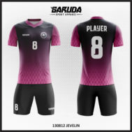 Desain Kaos Futsal Printing Warna Hitam Ungu Yang Menawan