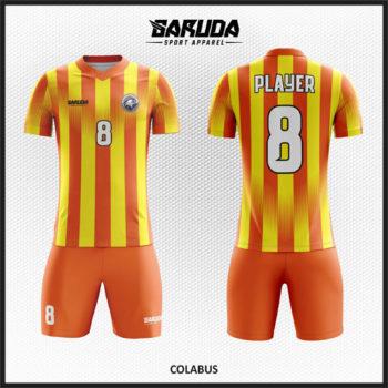 Desain Jersey Futsal Printing Warna Kuning Orange Yang Keren