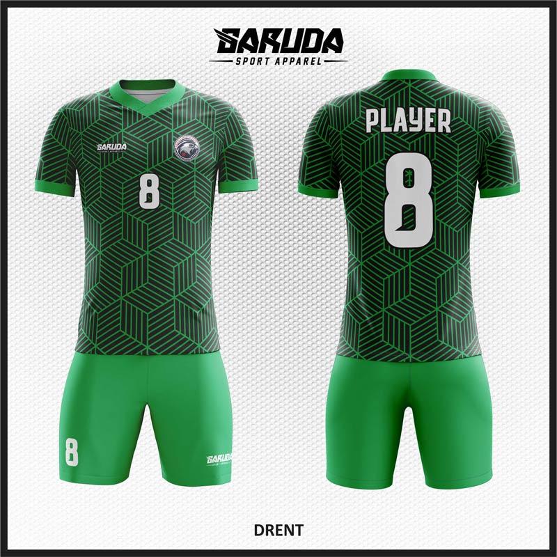 Desain Baju Bola Futsal Full Printing Warna Hijau Terbaru