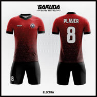 Desain Jersey Futsal Warna Merah Hitam Eksklusif