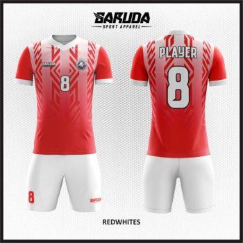 Desain Jersey Bola Warna Merah Putih Gagah Menawan
